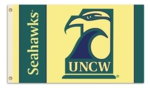 UNC Wilmington Seahawks 3' x 5' Flag with Grommets