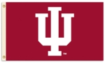 "Indiana Hoosiers 3' x 5' Flag with Grommets - ""IU"" Logo"