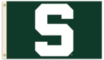 "Michigan State Spartans 3' x 5' Flag with Grommets - ""S"""