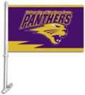 University of Northern Iowa Panthers Car Flag & Wall Bracket