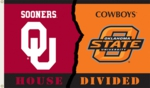 Oklahoma - Oklahoma State 3' x 5' House Divided Flag w/Grommets