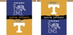 "Tennessee - Memphis 2-Sided 28"" X 40"" House Divided Banner"