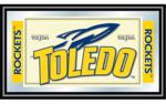 University of Toledo Rockets Framed Logo Mirror