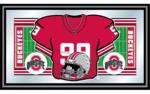 Ohio State Buckeyes Framed Football Jersey Mirror