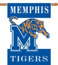 "Memphis Tigers 2-Sided 28"" x 40"" Banner with Pole Sleeve"