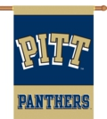 "Pittsburgh Panthers 2-Sided 28"" x 40"" Banner with Pole Sleeve"