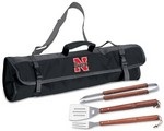 University of Nebraska Cornhuskers 3 pc BBQ Tool Set With Tote