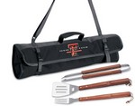 Texas Tech University Red Raiders 3 Piece BBQ Tool Set With Tote