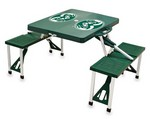 Colorado State Rams Folding Picnic Table with Seats - Green