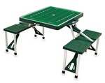 Marshall Thundering Herd Football Picnic Table with Seats -Green