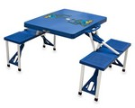 Delaware Blue Hens Folding Picnic Table with Seats - Blue