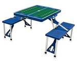 Memphis Tigers Football Picnic Table with Seats - Blue