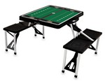 Wake Forest Demon Deacons Football Picnic Table with Seats-Black