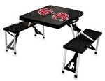Washington State Cougars Folding Picnic Table with Seats - Black