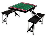 Washington State Cougars Football Picnic Table with Seats -Black
