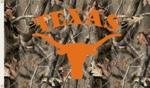 Texas Longhorns 3' x 5' Flag with Grommets - Realtree Camo