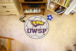 University of Wisconsin-Stevens Point Pointers Soccer Ball Rug