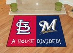St Louis Cardinals - Milwaukee Brewers House Divided Rug