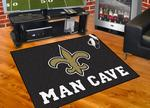 New Orleans Saints All-Star Man Cave Rug