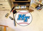 Middle Tennessee State University Blue Raiders Baseball Rug