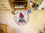 Ball State University Cardinals Soccer Ball Rug