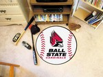 Ball State University Cardinals Baseball Rug