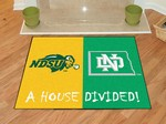 North Dakota - North Dakota State Bison House Divided Rug