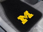 University of Michigan Wolverines Embroidered Car Mats