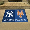 New York Yankees - New York Mets House Divided Rug