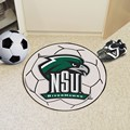 Northeastern State University RiverHawks Soccer Ball Rug