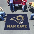 Los Angeles Rams Man Cave Tailgater Rug