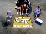 Georgia Tech Yellow Jackets Man Cave Tailgater Rug
