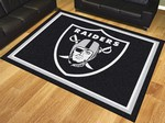 Oakland Raiders 8'x10' Rug