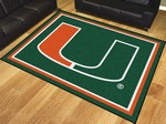 University of Miami Hurricanes 8'x10' Rug