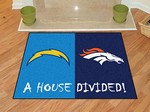 San Diego Chargers - Denver Broncos House Divided Rug