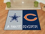 Dallas Cowboys - Chicago Bears House Divided Rug