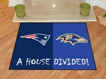 New England Patriots - Baltimore Ravens House Divided Rug