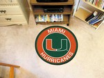 "University of Miami Hurricanes 27"" Roundel Mat"
