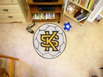 Kennesaw State University Owls Soccer Ball Rug - KS Logo