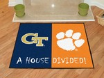 Georgia Tech Yellow Jackets - Clemson Tigers House Divided Rug