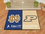 Notre Dame Fighting Irish-Purdue Boilermakers House Divided Rug