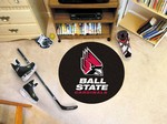 Ball State University Cardinals Hockey Puck Mat