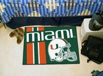 Miami Hurricanes Starter Rug - Uniform Inspired