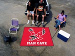 Eastern Washington Eagles Man Cave Tailgater Rug - Red
