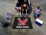 Eastern Washington Eagles Man Cave Tailgater Rug - Black