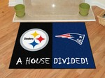 Pittsburgh Steelers - New England Patriots House Divided Rug