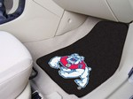 Fresno State Bulldogs Carpet Car Mats - Black