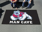 Fresno State Bulldogs Man Cave Tailgater Rug - Black