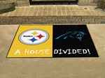 Pittsburgh Steelers - Carolina Panthers House Divided Rug