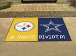 Pittsburgh Steelers - Dallas Cowboys House Divided Rug